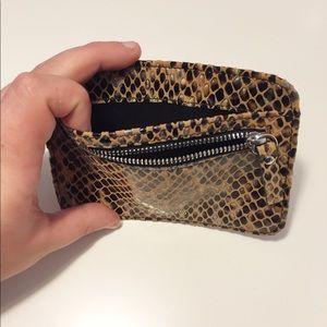 LODIS Leather Card Case Zipper Wallet